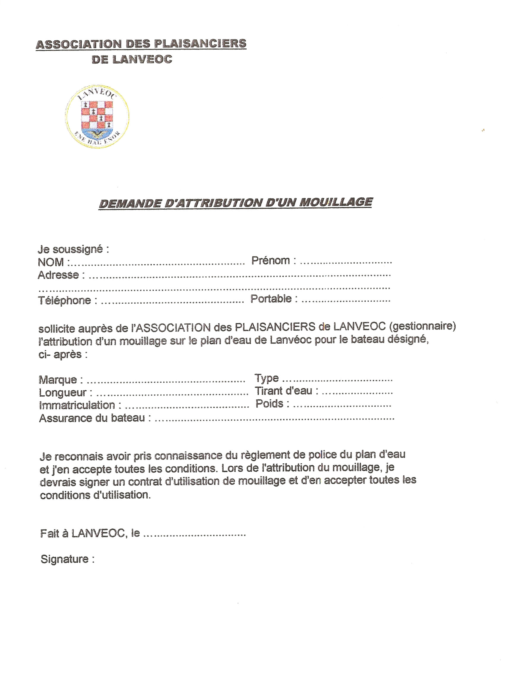 Plaisanciers De Lanveoc Le Collectif Des Associations De Lanveoc